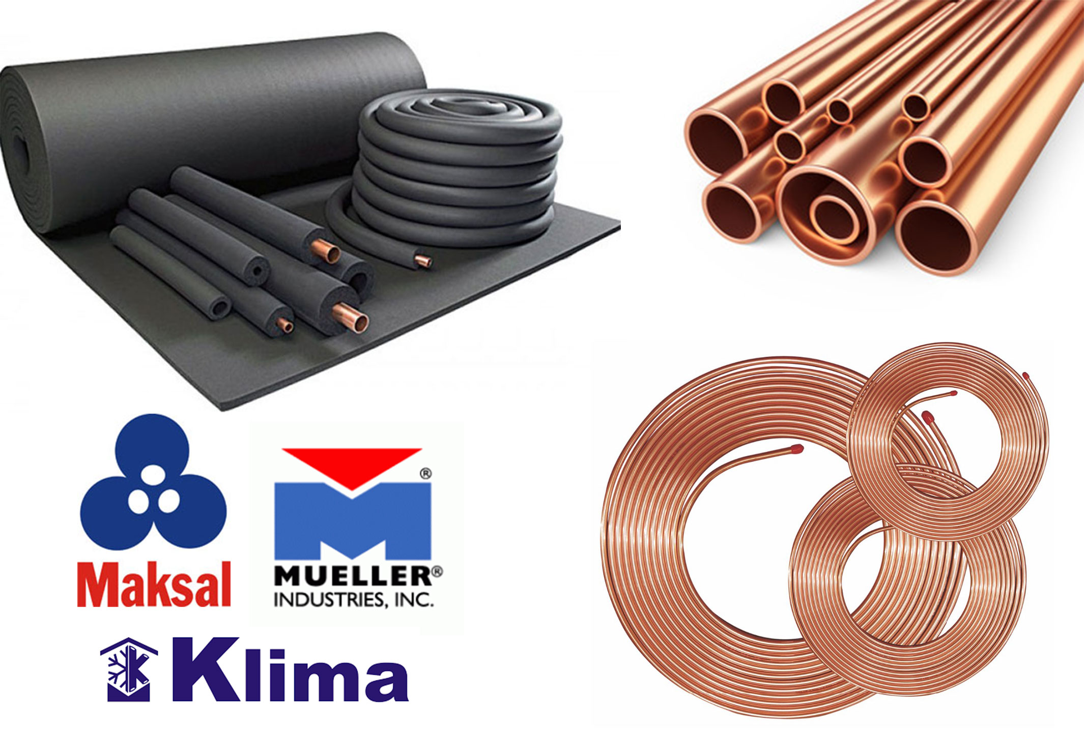 HVAC Copper Tubes Copper Pipe Coils & Rubber Insulation Muscat Oman